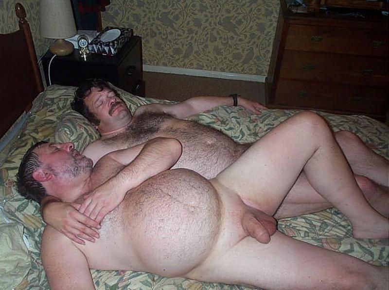 Gay Voyeur Is Stroking His Hairy Sleeping Housemate
