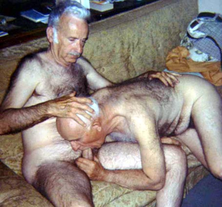 Sucking off grandfathers cock