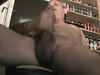 Teasing a daddy, a gay mature guy met at bar last night while cruising silverdaddies.