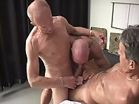 Naked old man 3 some