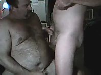 """Swallow it, bitch!"" daddies jerking off"