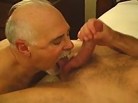 Daddy was licking my balls and squeezing my ass